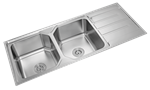 Picture of Double Sink with Drainer